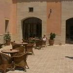Small courtyard outside bar