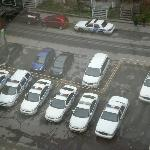 View from room - police cars nearby