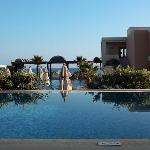 View from our room, over our private pool and out onto the main Imperial pool and beach
