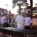The fantastic chefs at the BBQ night.