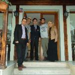 photograph of my family with Mr. Mourat in front of the Artefes hotel