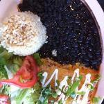 Enchiladas, Rice & Beans