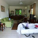 Wohnzimmer, hier mit Beistellbett