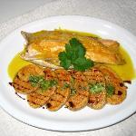 Trucha con salsa cítrica