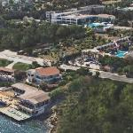 Aerial shot showing seafront setting