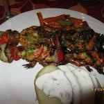 shrimp kabobs at the El Patio ( Granada)