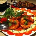 Sweet Chilli deep fried king prawns