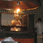 Chef at El Patio (outside grill)