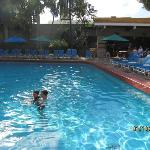Granada Pool with El Patio restaurant in background