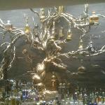 Work of art...the tequila tree in the cantina