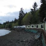 View of row of cabins