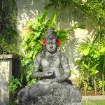 Bali God at the entrance of the villa