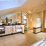 Badezimmer der Suite Alpenmohn mit Kamin