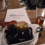 Mussel ~ preserved lemons, grape tomato, garlic, shallots