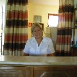 Szilvia, one of the great receptionists