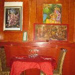 The restaurant's décor