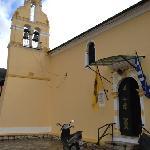 Church behind the studios, Benitses