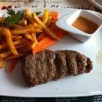 Lunch steak at Jensen's Bofhus, Stockholm, Sweden
