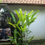 Ganesha sculpture at entrance
