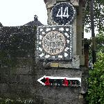 The sign for the Villa