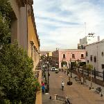 view down Calle Constitucion from Hostal de la Monja