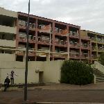 Vue de la résidence (désolé pour le ciel gris)