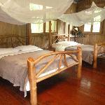 Une des chambres de la cabane familiale