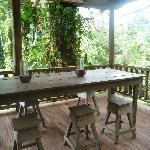 Une belle table dans la forêt!
