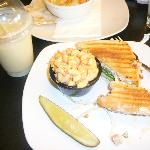 Dijonaise Panini, Macaroni Salad, and a Pineapple Sunrise Smoothie