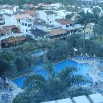 vista de la piscina desde mi habitación