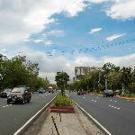 Right in the middle of Roxas Blvd