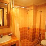 Shower in Standard room with complete amenities