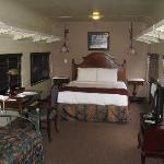 Train car with queen and trundle beds