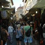 The busy street market!