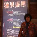 My husband Fernando in front of the BSO billboard for our concert, May 3, 2012.