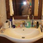 My bathroom. Ample space for my things.