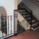 l'escalier de l'hotel