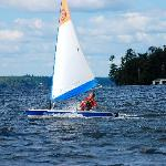 Sailing on Lake Rosseau