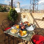 breakfast on the roof terrace