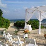 Beachfront wedding romantic setting at Surfsong