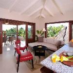 Beach House Villa living area, Surfsong, BVI