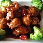 Serving of General Tso's Chicken