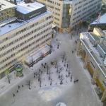 Globen Vorplatz