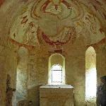 Christ pancreator XIIth century fresco of Chapel St Giles in Montoire