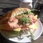 Bacon pesto sandwich