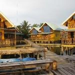 View of cabins from dock