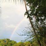 Rainbow after rainstorm