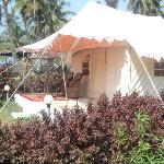 luxury tents at Five Five Restaurant
