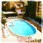 vista desde la habitación. Hotel Canadá Palace, Calafell.