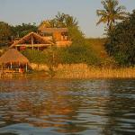 View of the lodge fro the lagoon